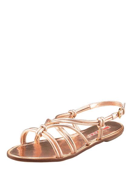 Metallic Flat Sandal