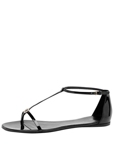 Dewi Patent Flat Sandal