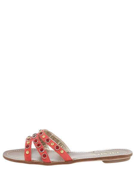 Gem-Detail Flat Sandal