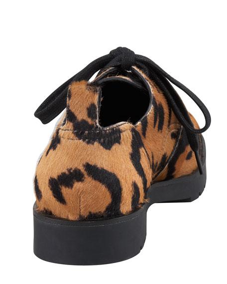 Daria Calf-Hair Low Combat Boot