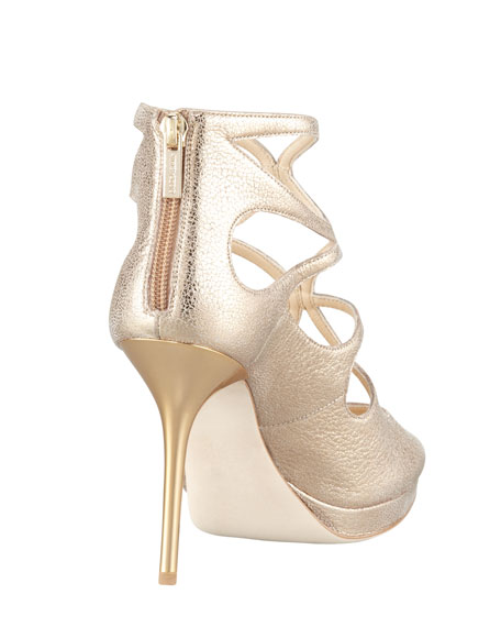 Latin Metallic Leather Sandal