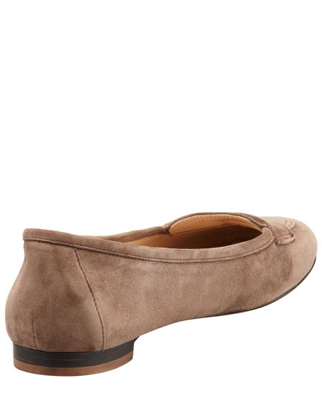 Hoiana Suede Penny Loafer