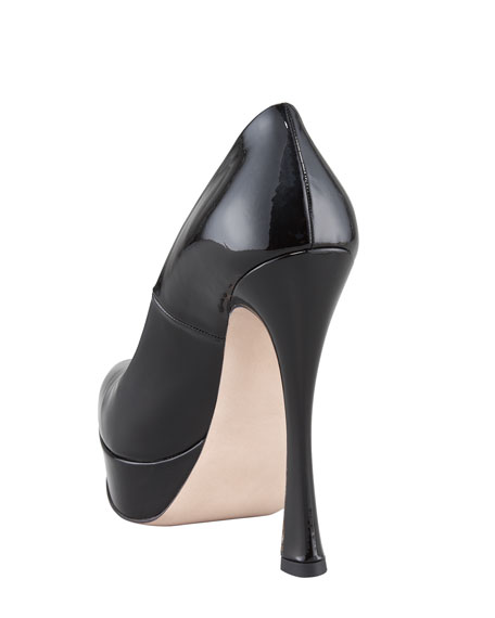 Patent Leather Platform Pump