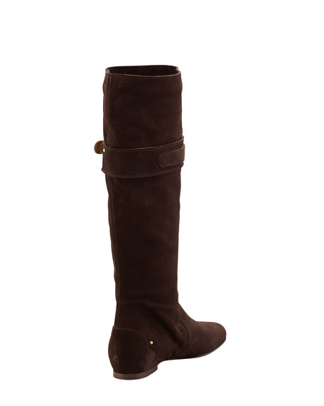 Suede Paddington Knee Boot