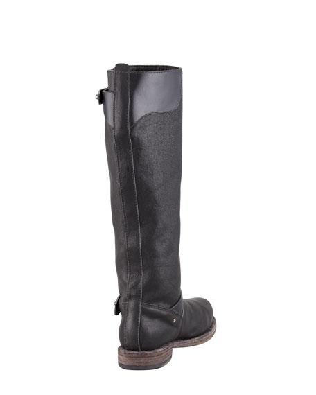 Knee-High Moto Boot