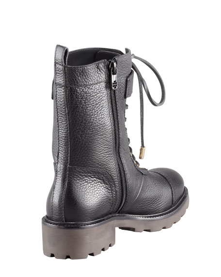Toby Tumbled Leather Combat Boot