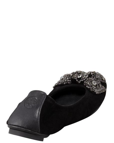 Eddie Jewel-Bow Ballerina Flat