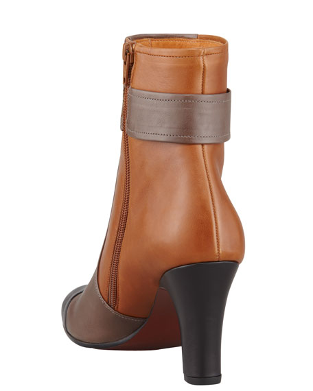 Quieja Colorblock Cap-Toe Ankle Boot