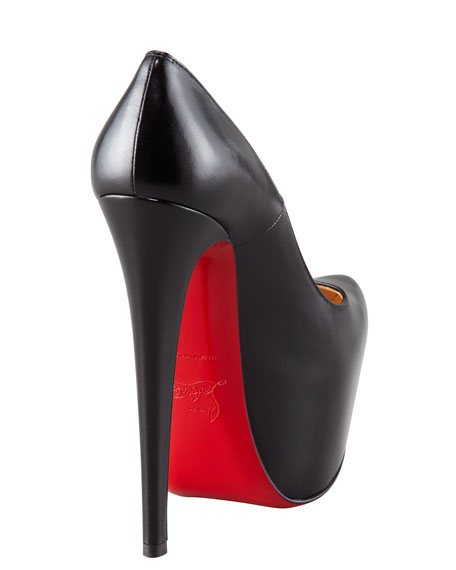 Daffodil Leather Platform Red Sole Pump
