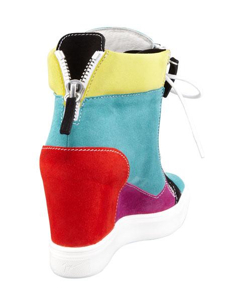 Multicolor Patchwork Hi-Top Sneaker