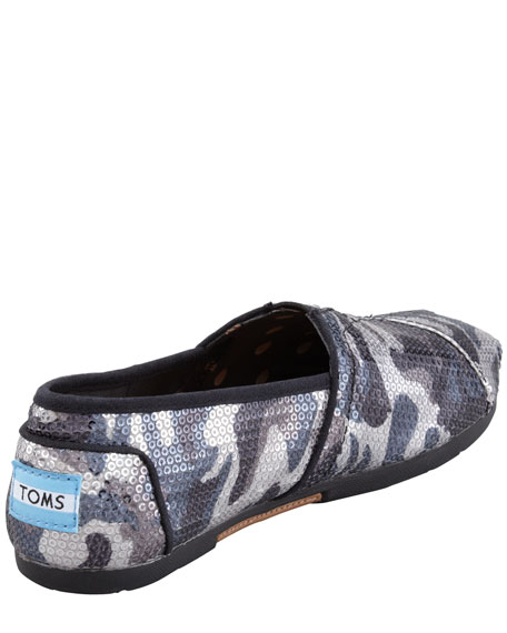 Sequined Camo Slip-On