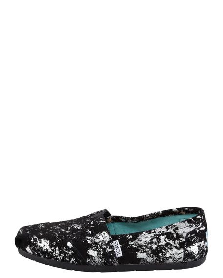 Metallic-Splattered Suede Slip-On