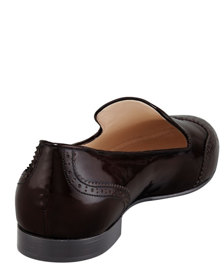 Spazzolato Wing-Tip Smoking Slipper