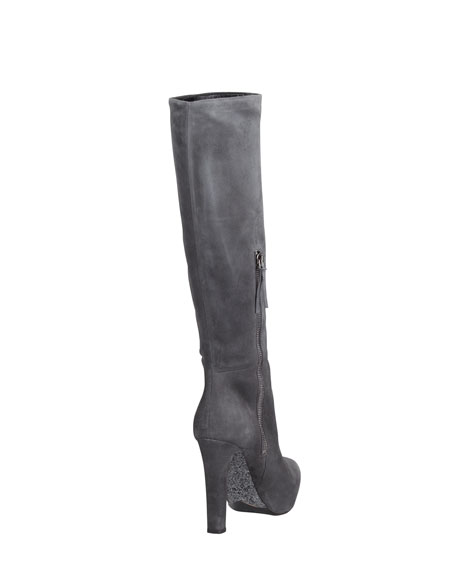 Glitter Heel Tall Boot