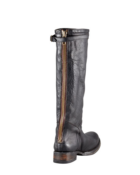 Distressed Leather Boot