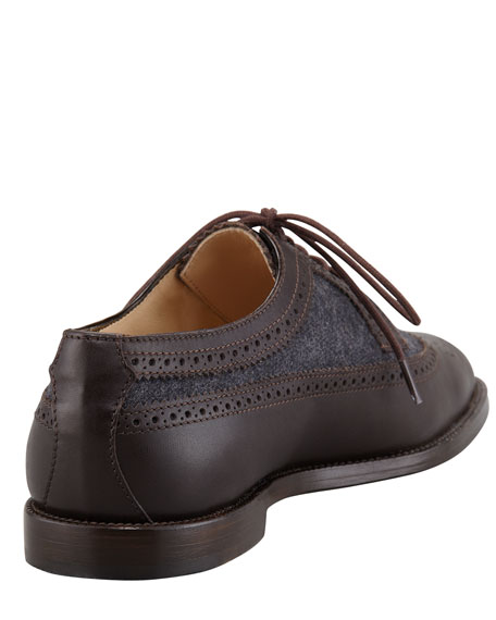 Lorenza Wing-Tip Bifabric Oxford