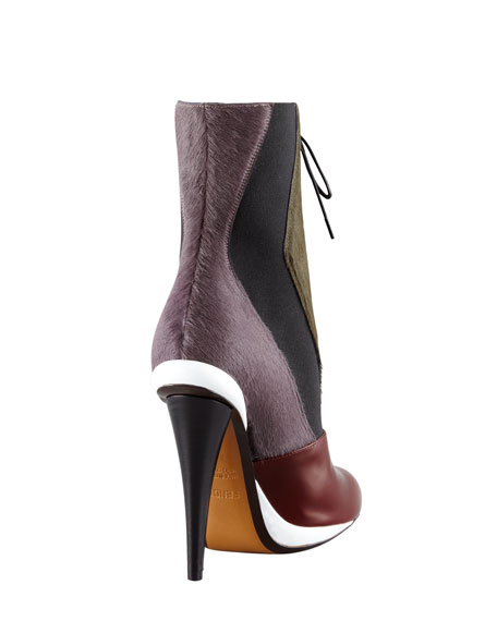 Victorian Calf Hair Colorblock Bootie
