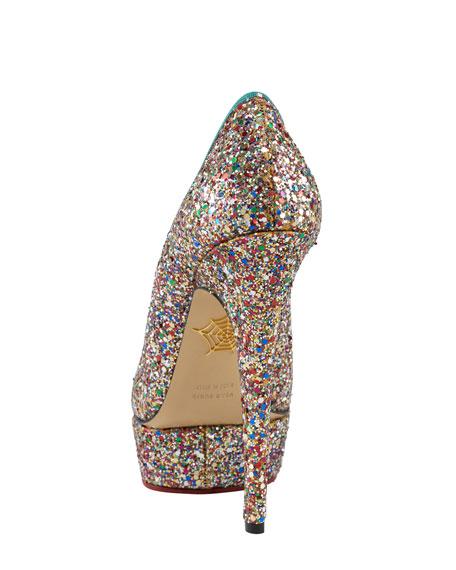Priscilla Glitter Platform Pump, Multicolor