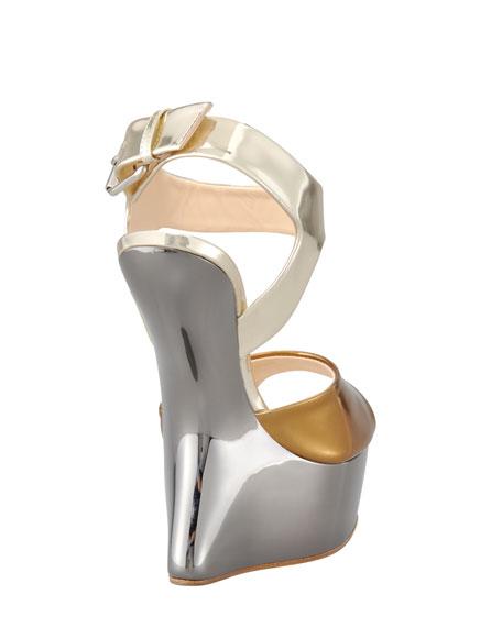 Metallic No-Heel Sandal
