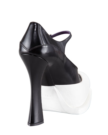 Rubber-Bottom Mary Jane Pump