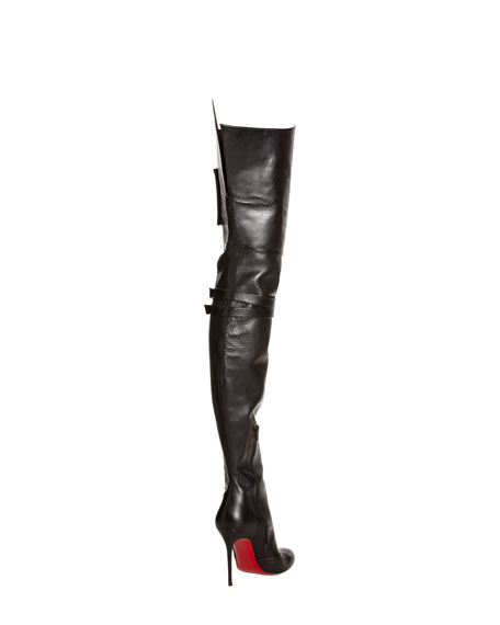 Seann Girl Over-The-Knee Red Sole Boot