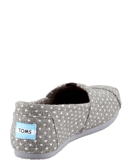 Polka-Dot Slip-On, Gray