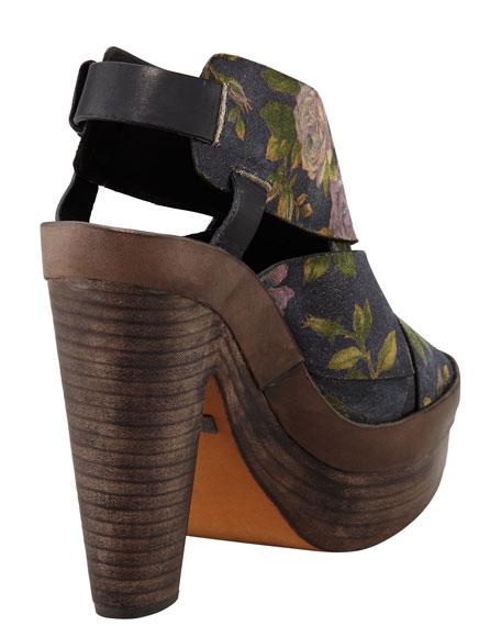 Sloane Floral Platform Sandal