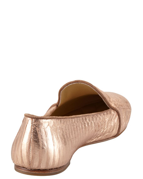 Snake-Embossed Smoking Slipper