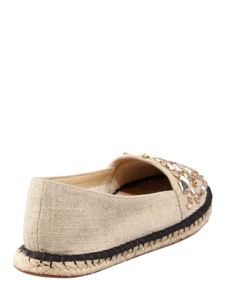 Beaded Flat Espadrille