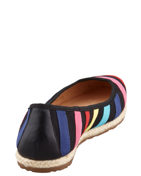 vivi striped espadrille flat