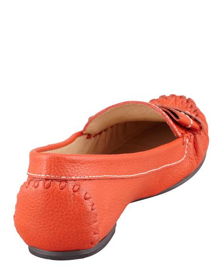 willie tumbled leather loafer, orange