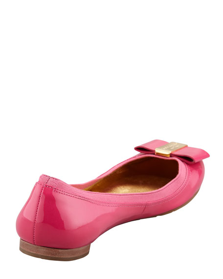 tock elastic-trim ballerina flat, pink
