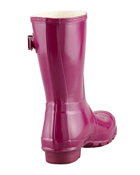 Original Short Glossy Welly Boot, Violet