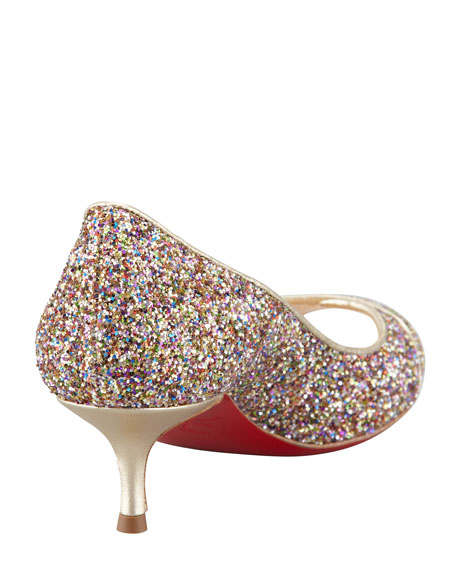 Croisette Orlato Crisscross Glitter Red Sole Pump