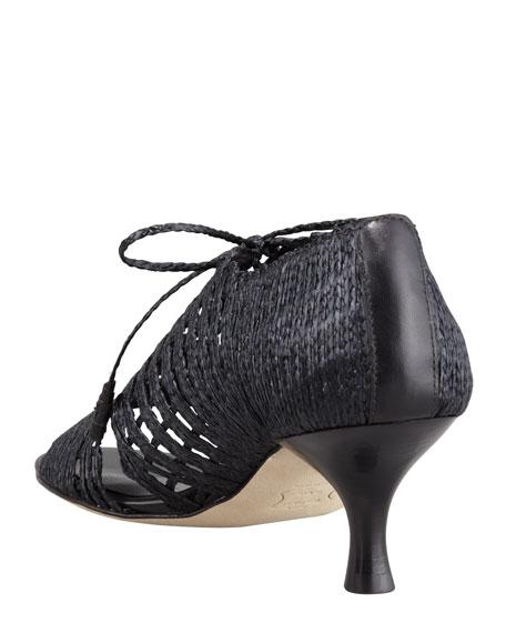 String It Twine-Tie Sandal, Black