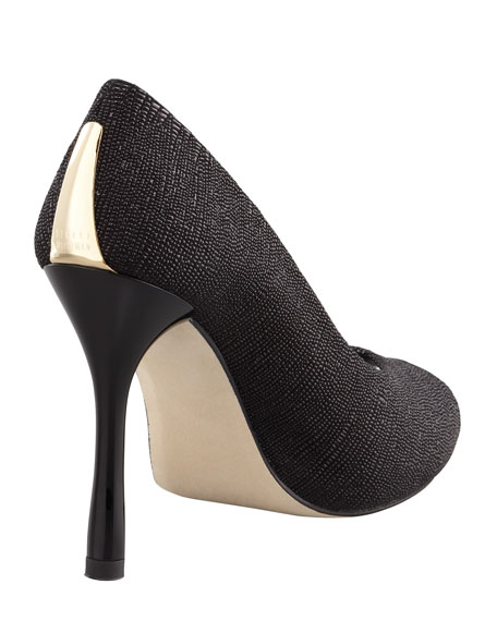 Idbaton Goosebump-Leather Pump, Black