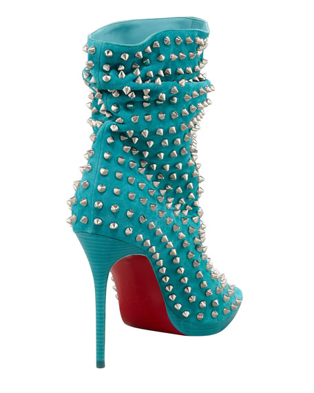 Guerilla Studded Suede Red Sole Bootie