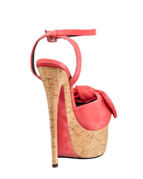 Suede/Cork Platform Sandal