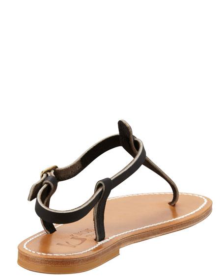 Picon Slingback Flat Thong Sandal