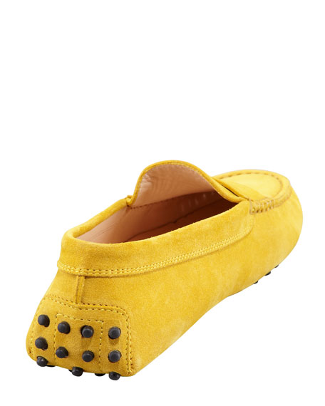 Suede Gommini Moccasino, Yellow