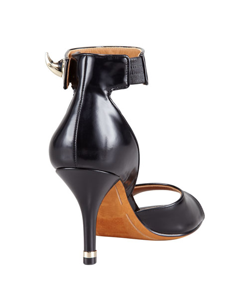 High-Heel Ankle-Wrap Shark-Tooth Sandal