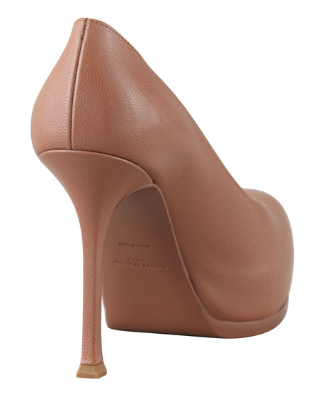 Tribute Two Leather Pump, Nude