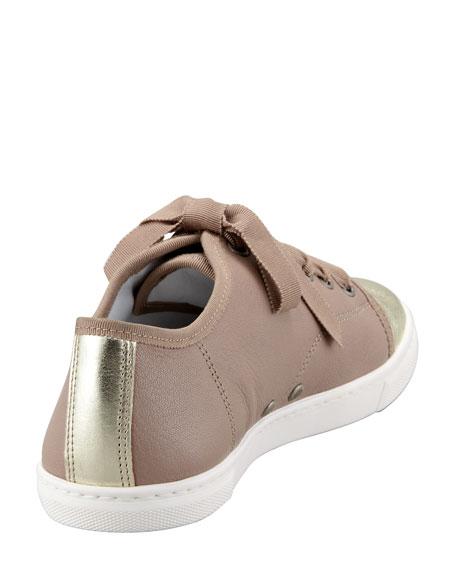 Metallic Cap-Toe Sneaker
