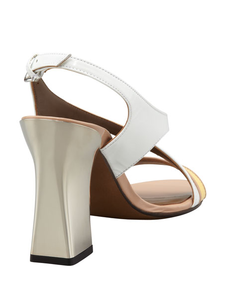 Mirror-Heel Patent Leather Sandal