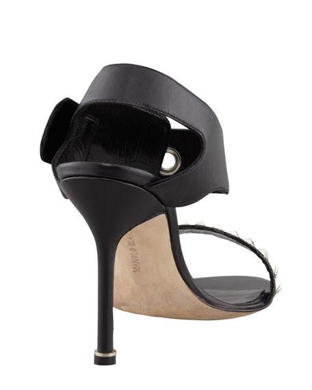 Koyru Studded Ankle-Wrap Sandal