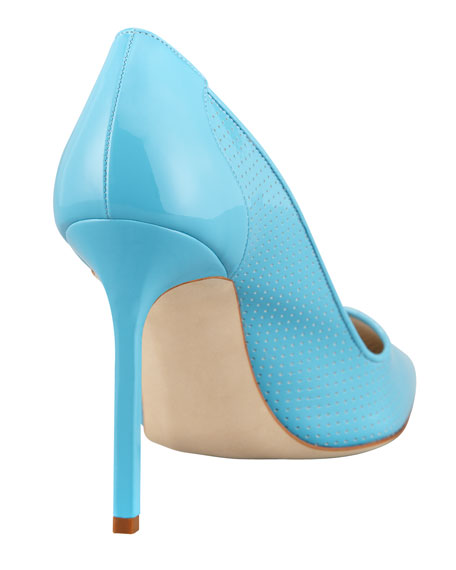BB Perforated Patent Pump, Blue