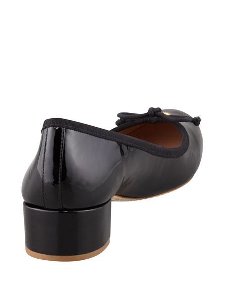 Chelsea Patent Charm Pump, Black