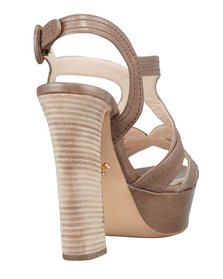 Butterfly Strappy Sandal, Gray