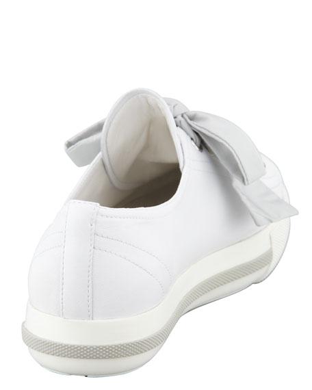Cap-Toe Leather Sneaker, White