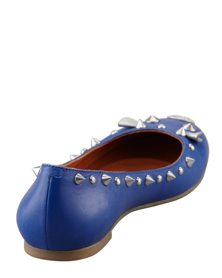 Studded Mouse Ballerina Flat, Blue